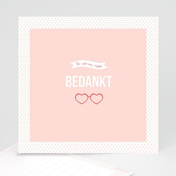 Bedankkaartje geboorte dochter - Roze wonderen - 0