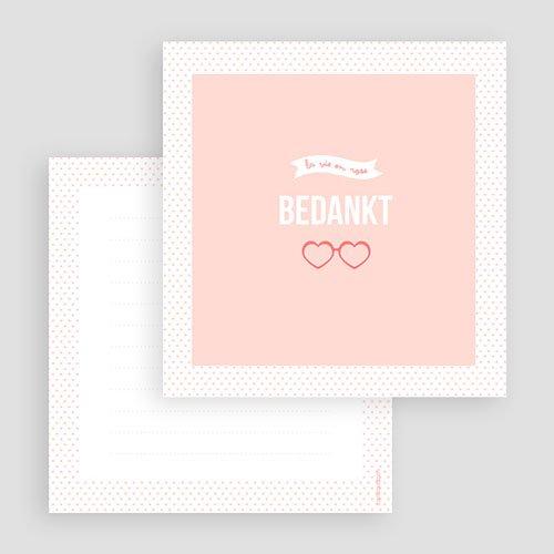 Bedankkaartje geboorte dochter - Roze wonderen 57074 preview