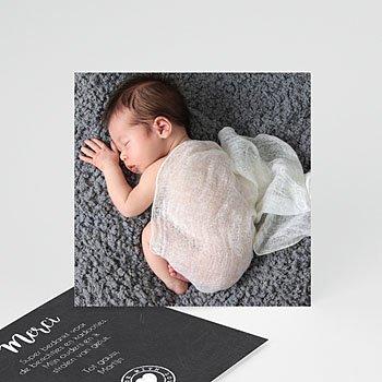 Bedankkaartje geboorte dochter - wanddeco - 0