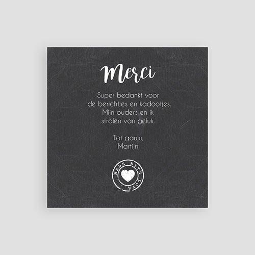 Bedankkaartje geboorte dochter - wanddeco 57076 thumb