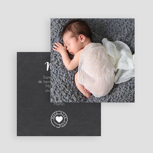 Bedankkaartje geboorte dochter - wanddeco 57077 thumb