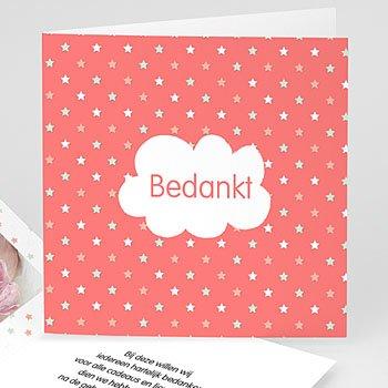 Bedankkaartje geboorte dochter - Dochter dankt sterren - 0