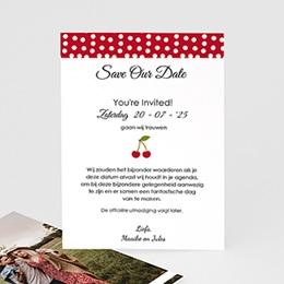 Save the date Huwelijk bloeiende kers