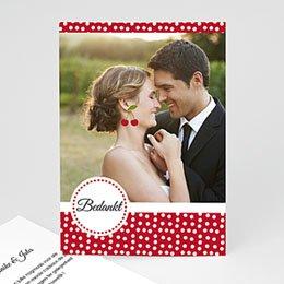 Bedankkaartjes huwelijk bloeiende kers