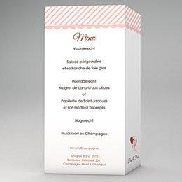Personaliseerbare menukaarten huwelijk jam jam