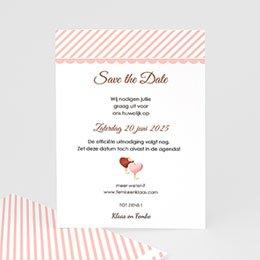 Save the date Huwelijk jam jam