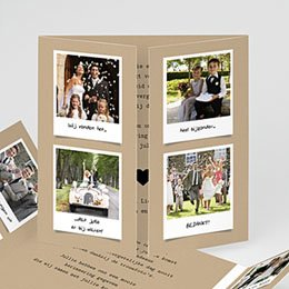Originele bedankkaarten huwelijk Ons verhaal