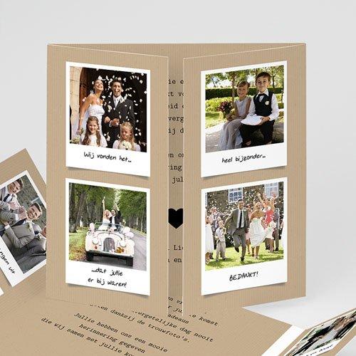 Originele bedankkaarten huwelijk - Ons verhaal 57202 thumb