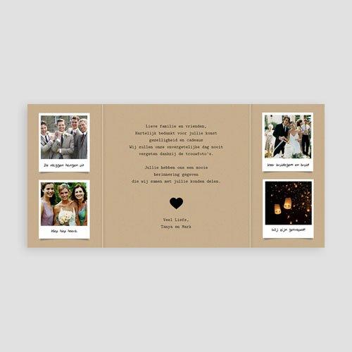 Originele bedankkaarten huwelijk - Ons verhaal 57203 thumb