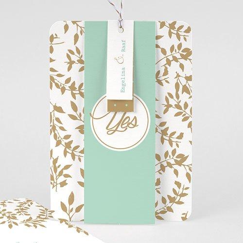Landelijke trouwkaarten - Gouden bladeren 57230 preview