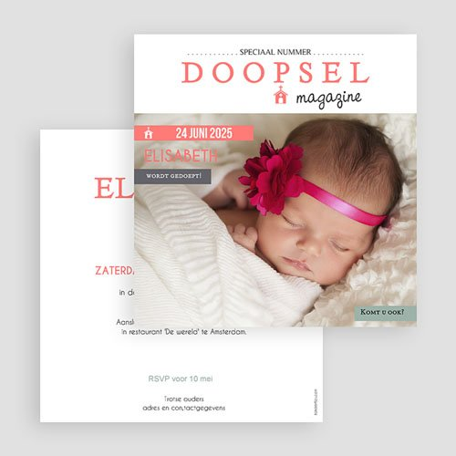 Doopkaartje meisje - Façon Magazine 57256 preview