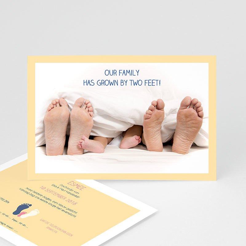 Grappige geboortekaartjes - Voetprint 57268 thumb