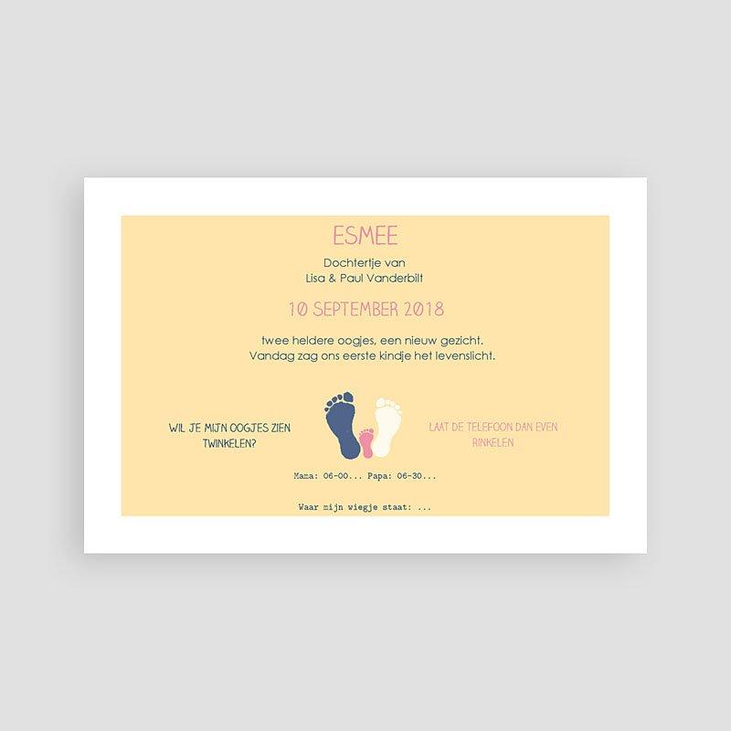 Grappige geboortekaartjes - Voetprint 57269 thumb