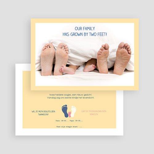 Grappige geboortekaartjes - Voetprint 57270 thumb