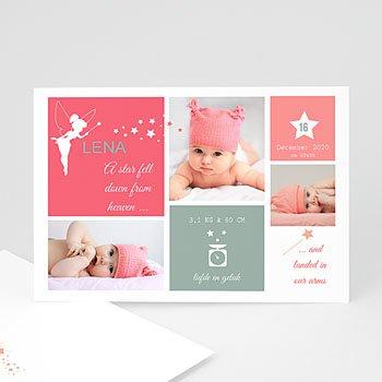 Geboortekaartje meisje - Petite fée - 0