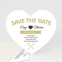 Save the date kaartjes Marque Coeur