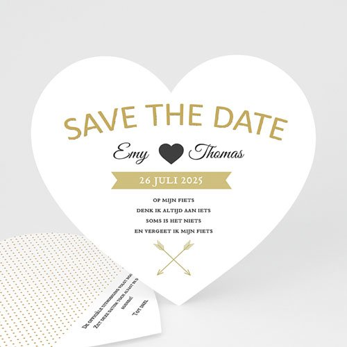 Save the date kaartjes - Marque Coeur 57277 thumb