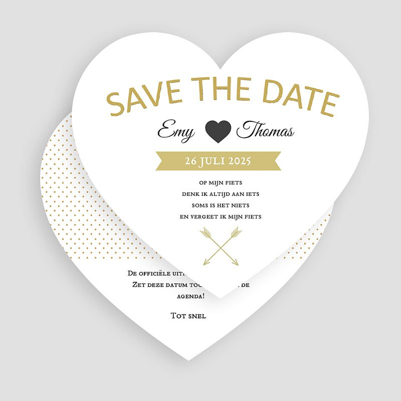 Save the date kaartjes - Marque Coeur 57279 thumb
