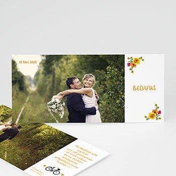 Bedankkaartjes huwelijk - Style Printanier - 0