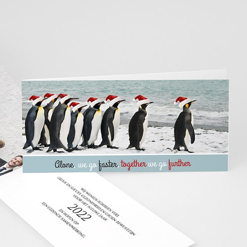 Professionele wenskaarten - Pingouins 57298 thumb