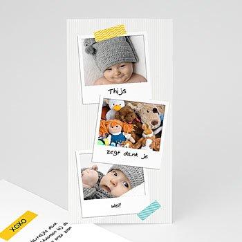 Bedankkaartje geboorte zoon - Façon Pola - 0