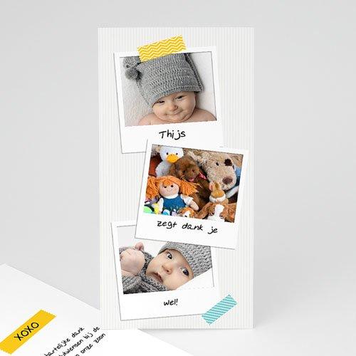 Bedankkaartje geboorte zoon Façon Pola