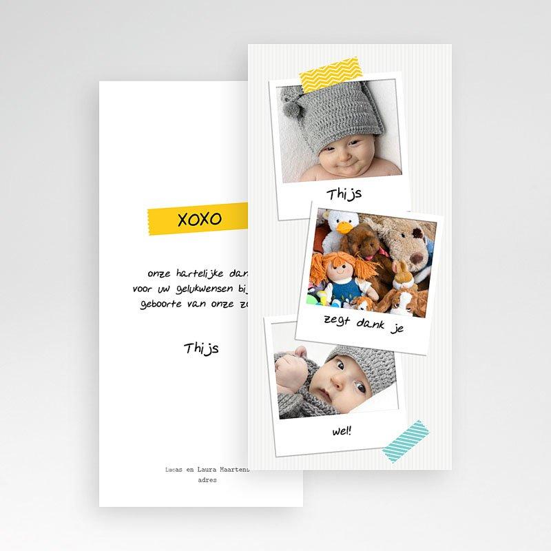 Bedankkaartje geboorte zoon Façon Pola pas cher