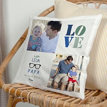 Kussens bedrukken Papa's love