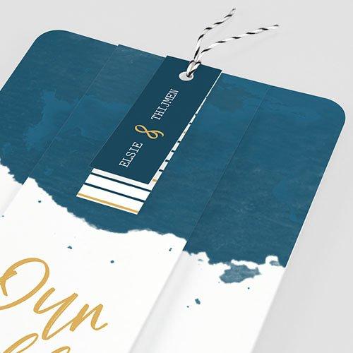 Creatieve trouwkaarten - The Blue Gold 57335 thumb