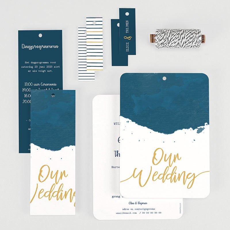 Creatieve trouwkaarten - The Blue Gold 57336 thumb