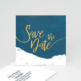 Save the date kaartjes The Blue Gold