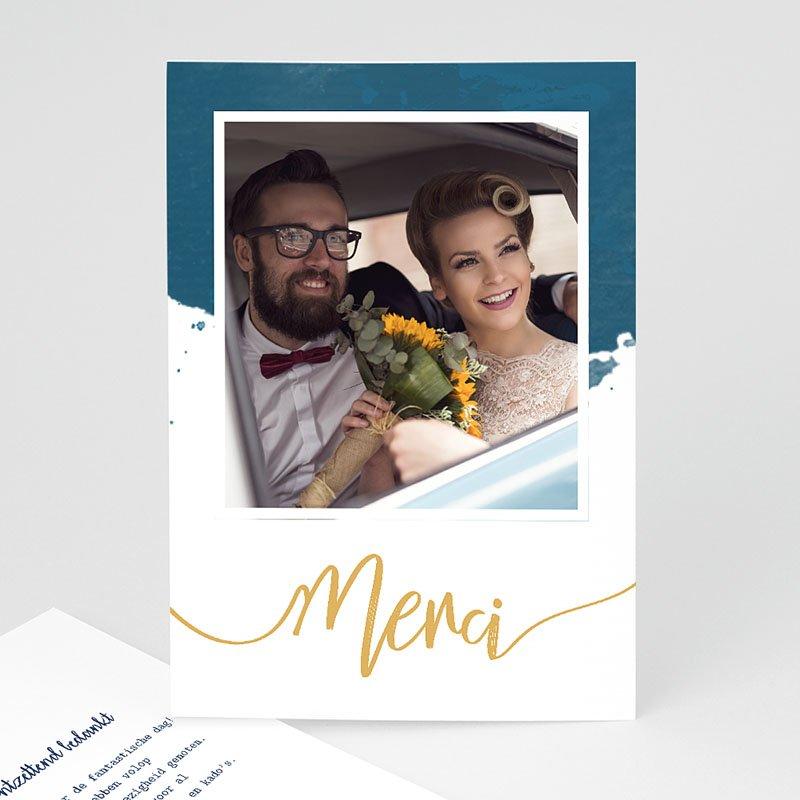 Originele bedankkaarten huwelijk - The Blue Gold 57361 thumb