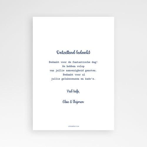 Originele bedankkaarten huwelijk - The Blue Gold 57362 thumb