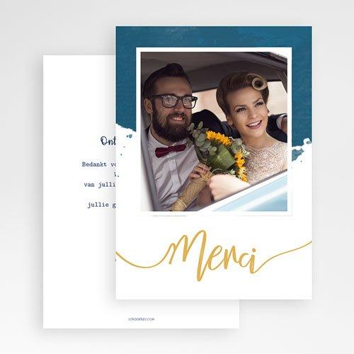 Originele bedankkaarten huwelijk - The Blue Gold 57363 thumb