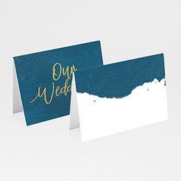 Tafelkaartjes huwelijk The Blue Gold