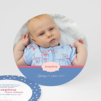 Geboortekaartje meisje - Lili Fleurs - 0