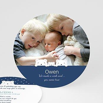 Geboortekaartje jongen - Trois Ours - 0