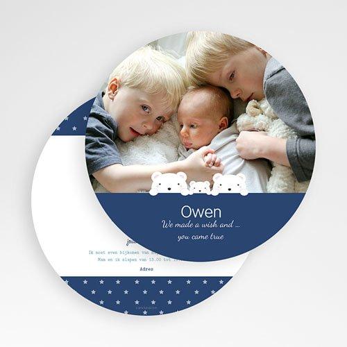 Geboortekaartje jongen - Trois Ours 57381 thumb