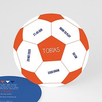 Geboortekaartje jongen - Ballon de foot - 0