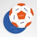Geboortekaartjes Jongen Ballon de foot gratuit
