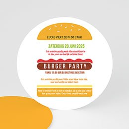 Uitnodiging Anniversaire adulte Burger party
