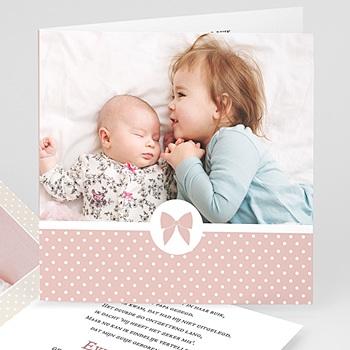 Geboortekaartje meisje - Noeud chic - 0