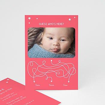 Geboortekaartje meisje - Devinette - 0