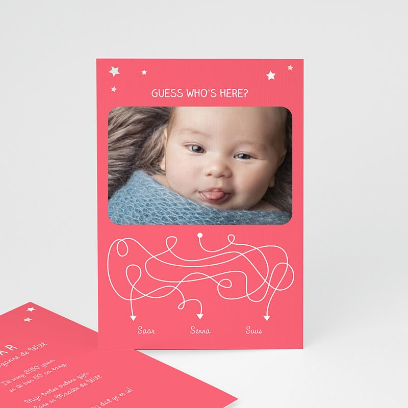Geboortekaartje meisje - Devinette 57397 thumb