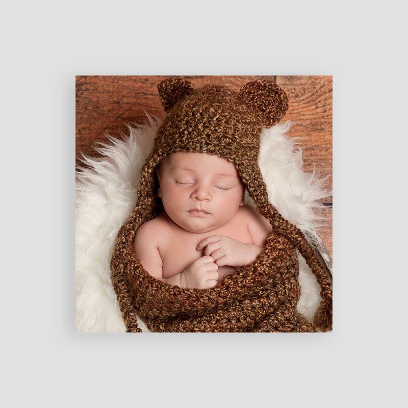 Bedankkaartje geboorte zoon - Devinette 57401 thumb