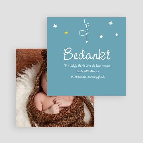 Bedankkaartje geboorte zoon - Devinette 57402 thumb