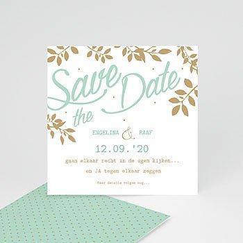 Save the date kaartjes - Gouden bladeren - 0