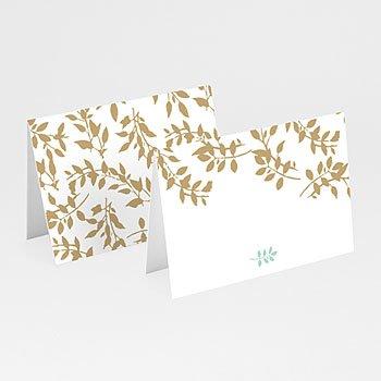 Tafelkaartjes huwelijk - Gouden bladeren - 0