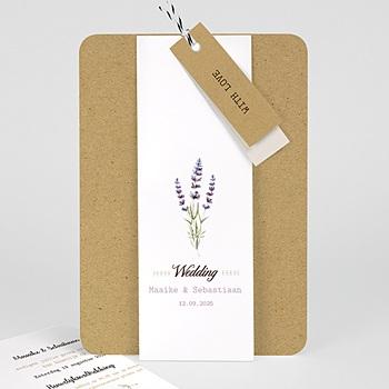 Landelijke trouwkaarten - Lavendel - 0