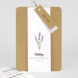 Landelijke trouwkaarten Lavendel